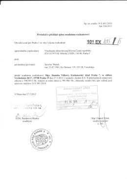 ffie. [tTi :ltj - Exekutorský úřad Praha 7