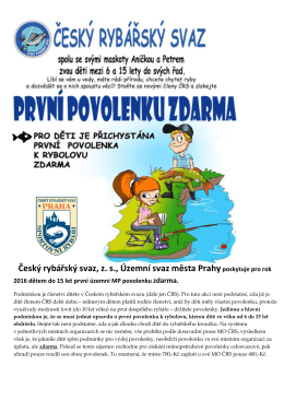 ke stažení ZDE - ČRS MO Zbraslav