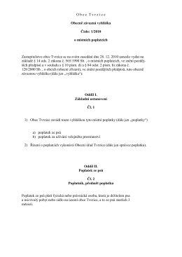 Obecně závazná vyhláška č. 1/2010 o místních poplatcích (*)