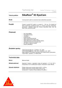 Sikafloor 83 EpoCem