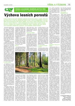 Výchova lesních porostů - Česká akademie zemědělských věd