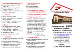 informační leták dso 2015 - Domov pro seniory ONDRÁŠ, po Brušperk
