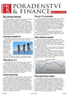 Newsletter Poradenství a Finance 2015/7 z 18.2.2015