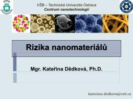 Rizika nanomateriálů
