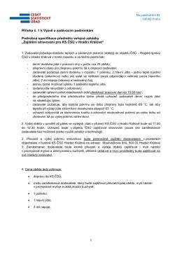 Podrobná specifikace předmětu veřejné zakázky - E