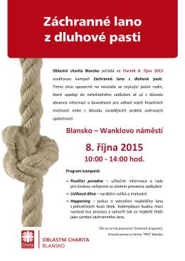Záchranné lano 2015 - leták