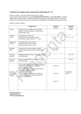 Technický list zateplovacího systému Quarzolith Mineral-M