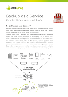 Backup as a Service