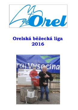 Orelská běžecká liga 2016 leták