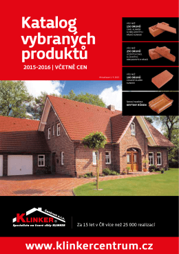 Katalog produktů 2015-2016