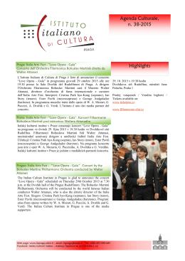 Love Opera Gala - Italský kulturní institut v Praze