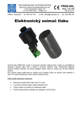 Elektronický snímač tlaku