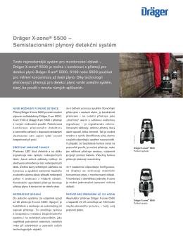 Dräger X-zone® 5500 – Semistacionární plynový detekční systém