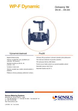 SENSUS filtr WP-F Dynamic DN 40-200