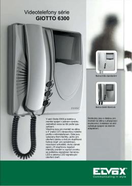 Videotelefony série GIOTTO 6300