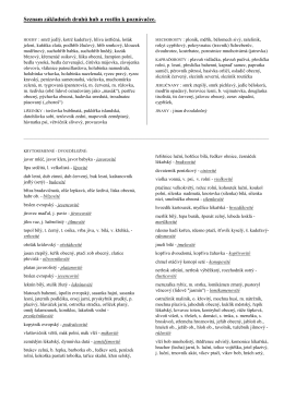 Seznam běžných druhů rostlin k praktické části zkoušky ze základů
