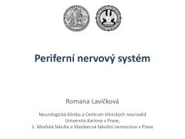 Rehabilitační postupy při lézích periferních nervů