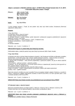 Zápis a usnesení rady č. 27(21/2015)