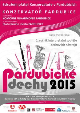 Programová brožura soutěže Pardubické dechy 2015