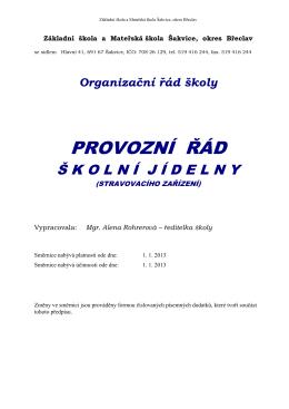 Provozní-řád-školní-kuchyně - Základní škola a Mateřská škola