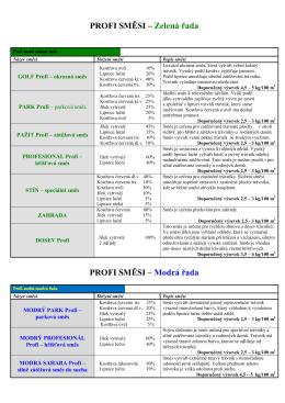 PROFI SMĚSI – Zelená řada PROFI SMĚSI – Modrá řada