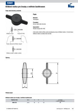 Křídlové matice pro šrouby s vnitřním šestihranem