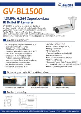 1.3MPix H.264 SuperLowLux IR Bullet IP kamera