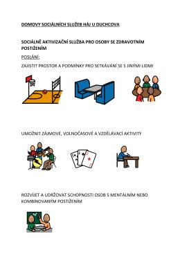 Poslání, cíle, okruhy osob - Sociálně aktivizační služba
