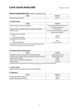 Ceník služeb Roklen360