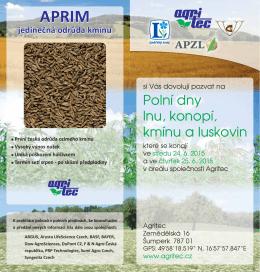 Pozvánka na Polní dny Agritec 2015