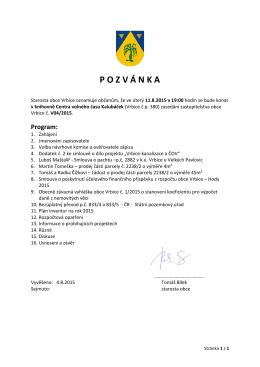 Pozvánka V04/2015