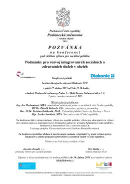 POZV Á NKA nakonferenci - Svaz měst a obcí České republiky
