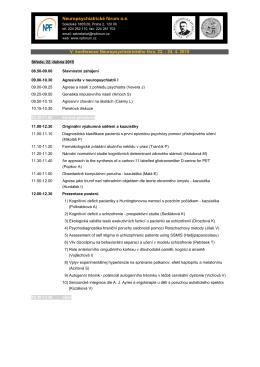 V. konference Neuropsychiatrického fóra, 22.