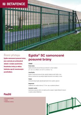 Egidia® SC samonosné posuvné brány