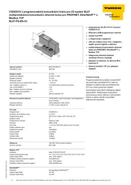 CODESYS 3 programovatelná komunikační brána pro I/O systém