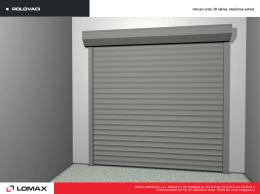 Rolovací vrata - LOMAX & Co s.r.o.
