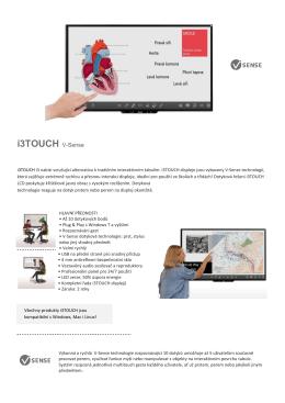 i3TOUCH V-Sense - interaktivni.cz
