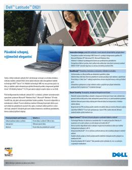 Dell™ Latitude™ D631