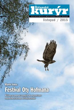 Festival Oty Hofmana - Mediální a komunikační servis Říčany, ops