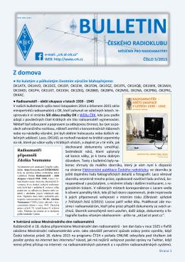 Bulletin ČRK č. 5/2015