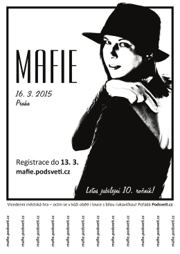 Letos jubilejní 10. ročník! - Mafie