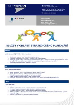 Služby v oblasti strategického plánování - MC