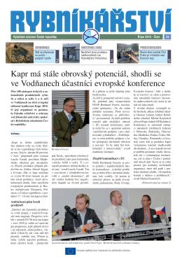 nejnovější číslo v pdf - Rybářské sdružení České republiky