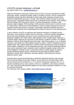 LOCATE-vizuální lokalizace v přírodě