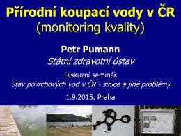 Přírodní koupací vody v ČR