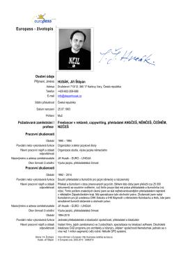 Stáhnout CV - Stepan Husak