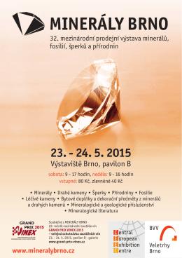 Letáček výstava Minerály Brno a prezentace GPV