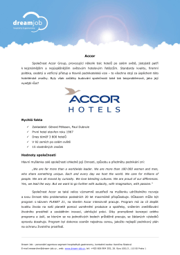 Accor - Dream job