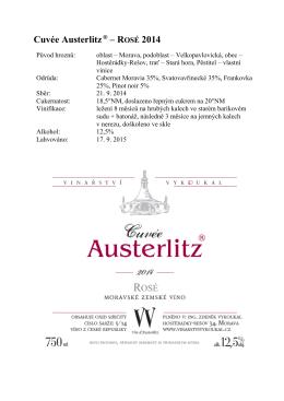 Cuvée Austerlitz® – ROSÉ 2014