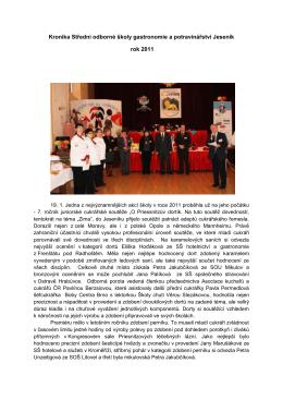rok 2011 - SŠ gastronomie a farmářství Jeseník